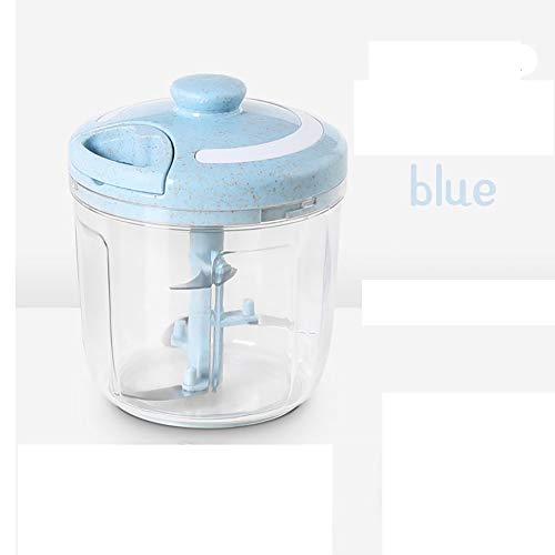 Handgescheurde knoflookpers hand gehouden plastic keukenmes handmatige vleesmolen keuken huishoudelijke schoonmaak multi-functie gereedschap 5.91 * 4.88 * 3.74In Blauw
