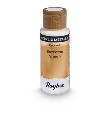 Rayher Hobby 35014617 Extreme Sheen Metallic-Farbe, kaschmir gold, Flasche 59 ml, Acrylfarbe metallic, patentierte Rezeptur