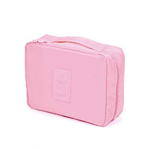 YAOG Sac cosmétique de stockage de sac cosmétique de sac de toilette de grande capacité de voyage multifonctionnel, rose