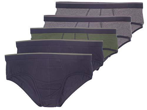 Livergy Herren Slips Multipack 5er Pack ++Plus Size++ Blautöne 4XL