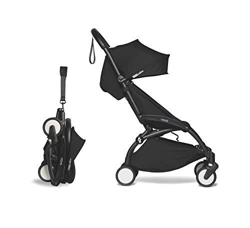 Babyzen YOYO2 Stroller - Black Frame with Black Seat Cushion & Canopy