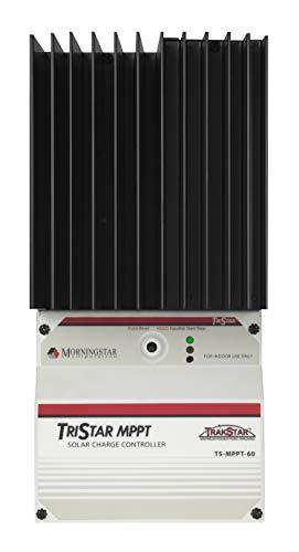 Morningstar - Tristar 60A MPPT Solar Charge Controller for 12V/24V/48V Batteries, Lowest Fail Rate in The Industry, Built-in Diagnostics, RTS Included, (TS-MPPT-60)