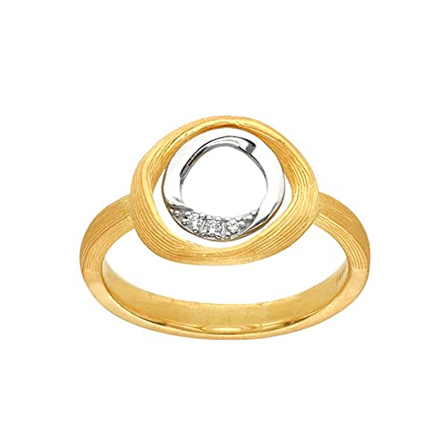 PRIMAGOLD(プリマゴールド) 純金 レディース リング ホワイトゴールドダイヤ 指輪 K24 24金ジュエリー (15.5)