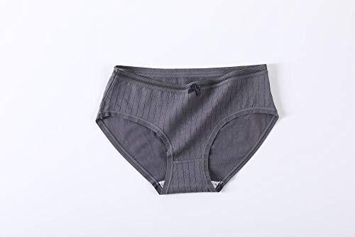 Anwasd7 Vrouwen ondergoed vrouwen mid-rise grote maat naadloos sexy kant meisje slip 100% katoen antibacteriële-Donker grijs_M