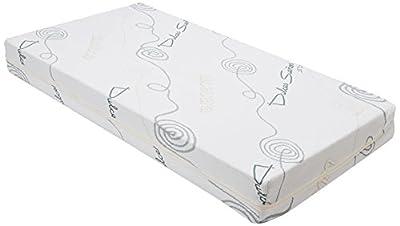 Colchon de cuna Viscoelastico con Funda. Optimo para el sueño del Bebé. Colchón de Viscoelastica para Cuna de Bebé de 120 x 60 cm.