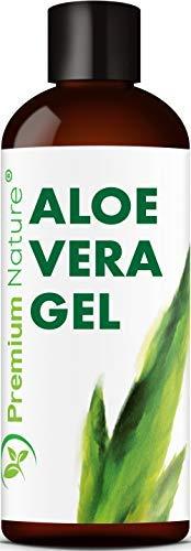 Pure Aloe Vera Gel Lotion - For Face & Dry Skin Psoriasis Eczema Treatment Cold Sore Scar After Bug Bite Sunburn Relief Rash Razor Bump DIY Body Lotio