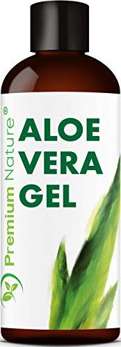 Pure Aloe Vera Gel Lotion- For Face & Dry Skin t Cold Sore Scar After Bug Bite Sunburn Relief Rash Razor Bump DIY Body Lotion Skincare Moisturizer Packaging May Vary (4 oz)