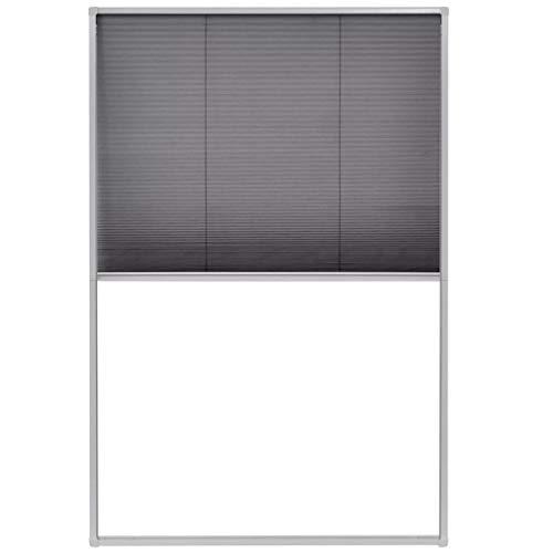 vidaXL 142612 Insektenschutz Alurahmen 80x120 cm Dachfenster Plissee Fliegengitter, Weiß