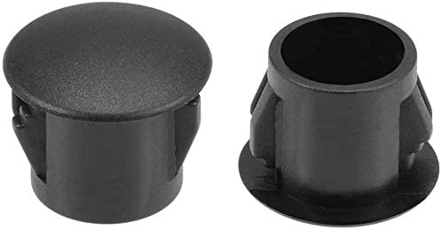 5//16 VictorsHome Hole Plugs Plastic 8mm Fit for 7.5-8mm Diameter Locking Hole Tube Flush Type Panel Plugs Fastener Cover for Kitchen Cabinet Furniture Black 50 Pcs