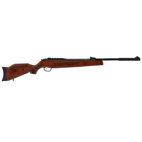 "HATSON Model 135 Vortex Quiet Energy Break Barrel Air Rifle .25 Caliber 10.60"" Single Shot Walnut Stock, Black"
