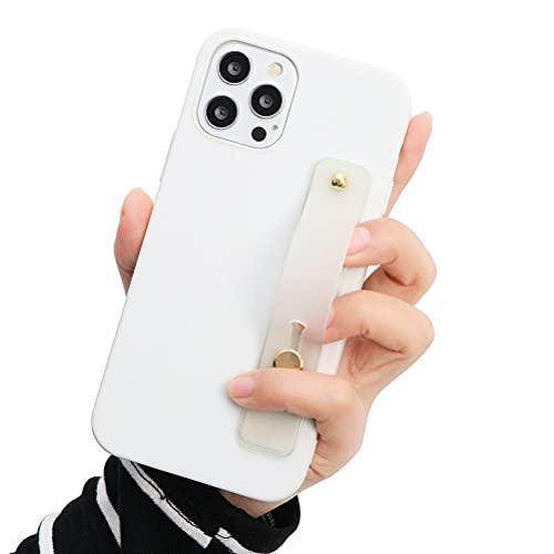 Eouine - Capa de pulso para Xiaomi Pocophone F1, 6,2 polegadas, capa de telefone de silicone branco macio com pulseira de pulso, suporte ultrafino, à prova de choque, antiarranhões