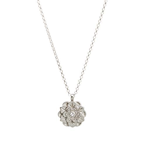 Dogeared Happy Graduation 2020 Sterling Silver Flower Lotus Necklace