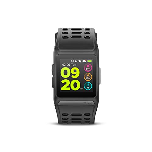 SPC Smartee Sport-Reloj Inteligente Waterproof (GPS, acuático, Pantalla IPS, pulsómetro, podómetro, Bluetooth, ROM 64MB), Adultos Unisex, Negro, 265x35x14mm