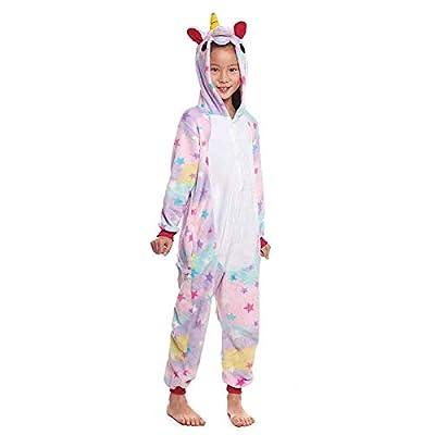 Pijamas Enteros de Animales Niñas y Niños Unisex?Tallas Infantiles 3 a 12 años? Disfraz Pijama Unicornio Niña Star Mono Enterizo Carnaval Fiestas?Talla 10-12 años?