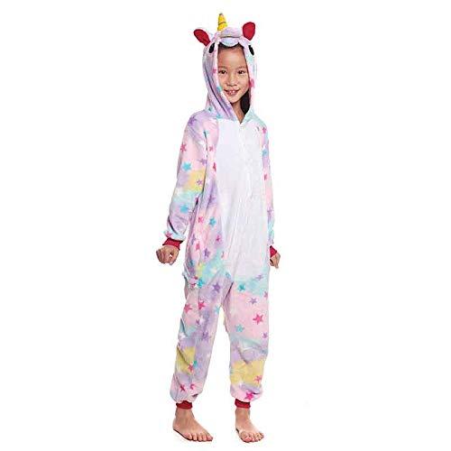 Pijamas Enteros de Animales Niñas y Niños UnisexTallas Infantiles 3 a 12 años Disfraz Pijama Unicornio Niña Star Mono Enterizo Carnaval FiestasTalla 7-9 años