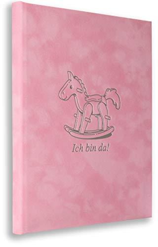 Babystammbuch Rosa Girl Mädchen Alle Urkunden-Formate (Klassik, A5, A4) Buch Taufe incl. 3 Klarsichthüllen