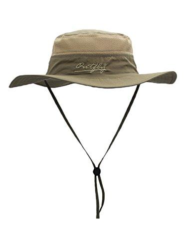 WANYING Damen Herren Outdoor Bucket Hut Fischer Hut Atmungsaktiv Schnelltrocknend Sonnenschutz - für Kopfumfang 56-60 cm Dunkelkhaki