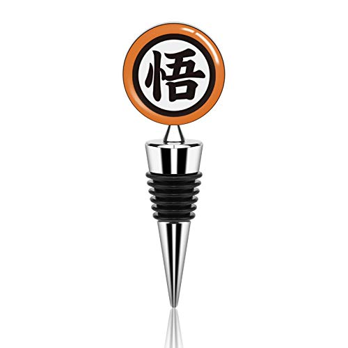 Dra-Gon B-All Goku Turtle Gi Logo Wine Bottle Stopper, Keep Fresh Decorative Wine Stoppers, with Beautiful Art, Reusable,For Gifts, Bar, Holiday Party, Wedding