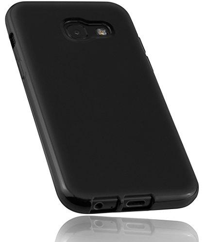 mumbi Hülle kompatibel mit Samsung Galaxy A3 2017 Handy Hülle Handyhülle, schwarz