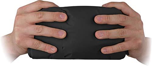 normani Ultrakleine MEGA Kopmpakte Camping-Luftmatratze wasserdichte Isomatte Biwakmatte Schlafmatte mit 520 g - SUPERLEICHT Farbe Schwarz