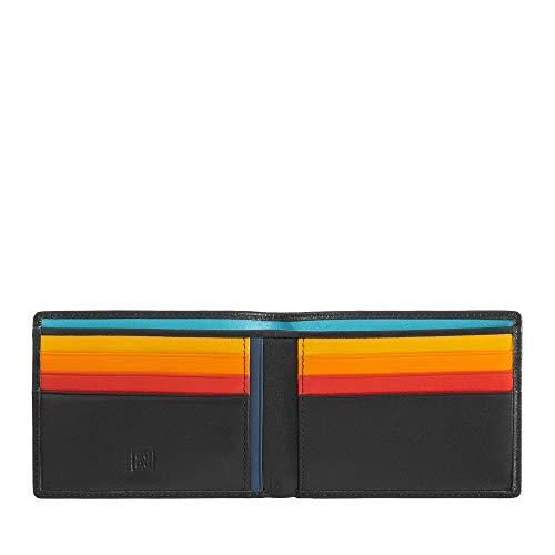 DUDU Portafoglio Uomo Blocco RFID in Pelle Schermato Piccolo da Tasca con slot Porta Carte di Credito Nero