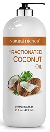 Fractionated Coconut Oil Aromatherapy Relaxing Massage Carrier Oil for Hair amp Skin Care Diluting Essential Oil Moisturizer Softener Light Nourishing Oil Healthy Skin Hair MCT Hexane Free 16 oz