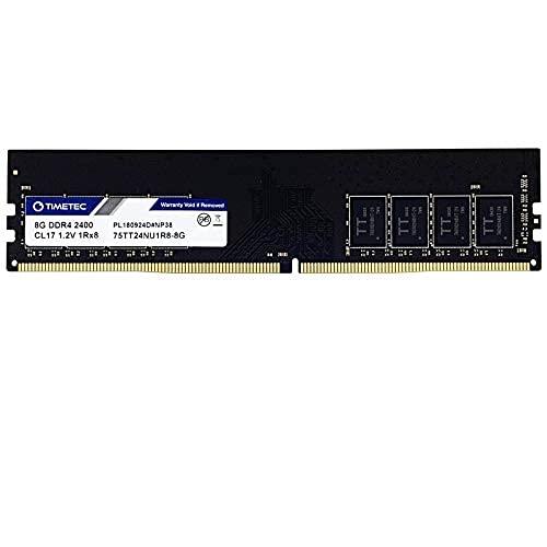 Timetec Hynix IC DDR4 2400MHz PC4-19200 Non ECC Unbuffered 1.2V CL17 1Rx8 Single Rank 288 Pin UDIMM Desktop PC Computer Memory Ram Module Upgrade (8GB Single Rank)
