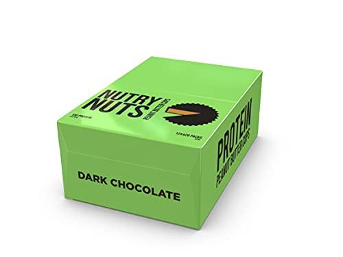 Protein Dark Chocolate Peanut Butter Cups, Vegan, Plant Based, Low Sugar, Gluten Free, 12 x 42g, Nutry Nuts