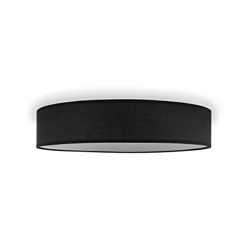 Smartwares Lámpara de techo negra-Diámetro 50 cm