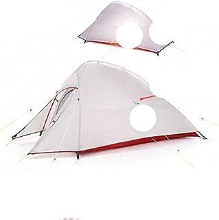 Tält uppgradering serie 1 2 3 personer 20D silikon dubbelskikt aluminiumstång ultralätt campingtält