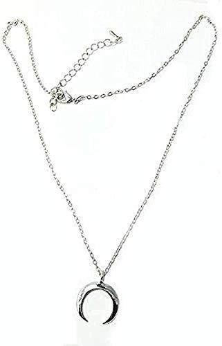 Yiffshunl Collar de Moda Collar Bohemio Collar de corazón Collar de Cadena pequeña con Colgante en Forma de corazón Collar de Agarre de Ropa étnica para Mujer