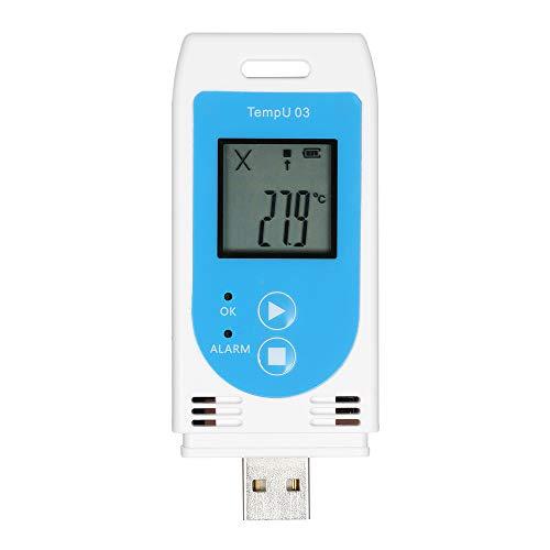 Zitainn Temperatur-Luftfeuchtigkeits-Logger, USB-Temperatur-Luftfeuchtigkeits-Datenlogger Wiederverwendbares Datenlogger-Rekorder-Messgerät