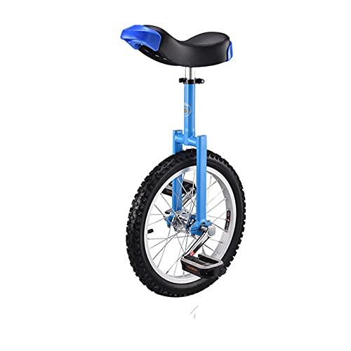16 '' 18 '' 20 '' 24 '' Equilibrio Coche Monociclo Competencia de Bicicletas Coche de una Sola Rueda Coche de Equilibrio de Aleación de Aluminio Engrosado,Blue,18in