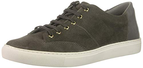 TCG Cooper Premium - Zapatillas de piel y ante con cordones para hombre, Gris (Quiet Shade), 42 EU