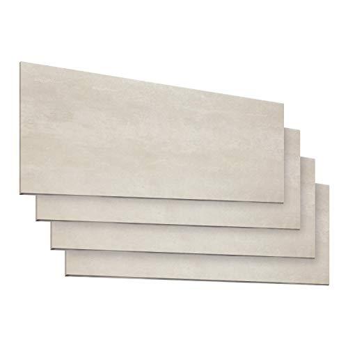 Schnell | Design Vinylboden Premium Designboden Steinoptik Fliesenformat Klicksystem Stärke 5,0mm Nutzschicht 0,55mm NKL 33/42 Wasserresistent | 1 Paket = 1,86m² | Loftbeige