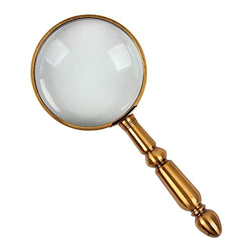 lupas de Aumento Lupa 20X Lupa De Metal Desmontable Lupa De Mano Portátil para Personas Mayores Que Leen, Exploran, Inspeccionan (Color : Metallic)