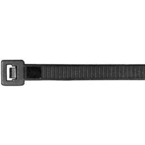 Aparoli 181873 Professionelle Kabelbinder 360 x 7.5 mm, 100 Stück (RAL9011) wetterfest, schwarz