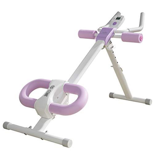 Fitness Höhe einstellbar Bauch Trainer Bauch Ganzkörper Übung Fitness Taille Kern Fitness Beine Oberschenkel Gesäß Körper Shaper (Color : Purple, Size : 52 * 114 * 82cm)
