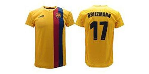 FCB Camiseta Griezmann 2020 Barcelona oficial Away 2019 2020 en blíster de la partida de Barcelona 10 niño niño adulto amarillo (6 años)