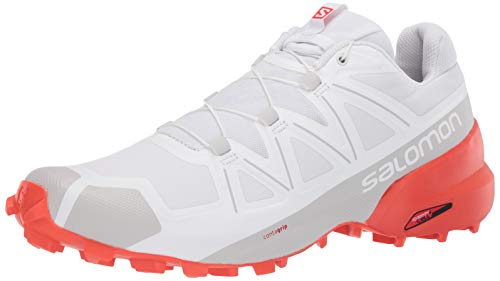 SALOMON Men's Speedcross Competition Running Shoes, White (White/White/Cherry Tomato), 10 UK