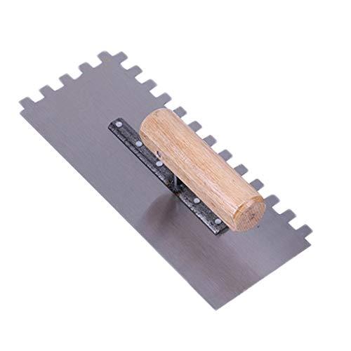Cemento Margen llana metálica lechada del azulejo con herramienta de mano Espátula Paleta de la construcción albañil