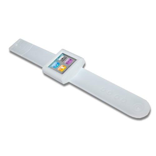 Caso Pulsera Pulgares Arriba Snaletwht Para El Blanco Apple Ipod Nano