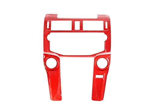 ZHIXIANG Conejillo de Coches FIT para Toyota 4 Runner 2010-2020 Control Central NAVEGACIÓN GPS Panel Decoración Cubierta Pegatina Pegatina Interior Accessoires (Color Name : 3Pcs Red)