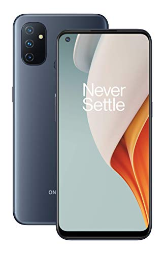 OnePlus Nord N100 (64GB, 4GB) 6.52″ 90Hz Display, Snapdragon, 5000mAh, Dual SIM GSM Unlocked Global 4G LTE (T-Mobile, AT&T, Metro, Straight Talk) International Model (Midnight Frost, 64GB SD Bundle)