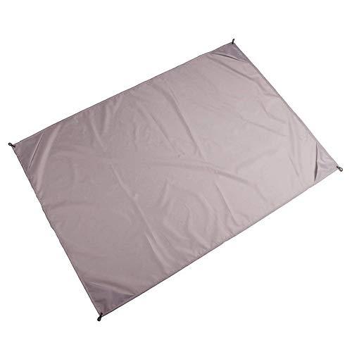Manta de playa de 145 x 200 cm, impermeable, portátil, para picnic, camping, colchoneta para dormir, manta para exteriores (tamaño: 145 x 200 cm, color: gris claro)