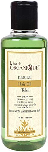 Glamorous Hub Khadi Organique Tulsi Herbal Hair Oil 210Gms (el embalaje puede variar)