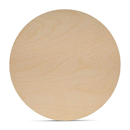 Wood Plywood Circles 15 inch, 1/8 Inch Thick, Round Wood Cutouts, Pack of 5 Baltic Birch Unfinished Wood Plywood Circles for Crafts, by Woodpeckers