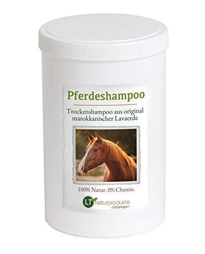 Trockenshampoo für Pferde - mit original marokkanischer Lavaerde | Vegan und Bio | zur chemiefreien Fellpflege | Tonerde Heilerde Wascherde Tonpulver Anti-Schuppen Sensitive