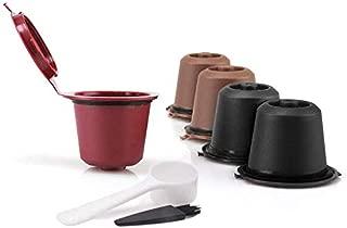 5 Pack Colorful Nespresso Reusable Capsules Durable Refillable Coffee Pods compatible with Nespresso Machines (OriginalLine Compatible)