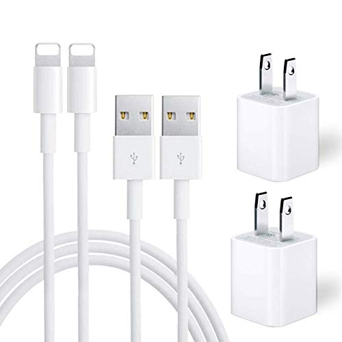 iPhone Charger, iPhone Charger MFi Certified Lightning Cable to USB Fast Charging Data Sync Transfer Cable with 2Pack…